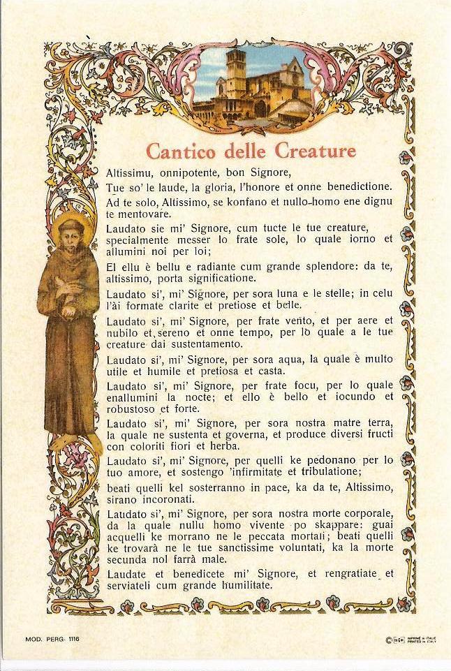 Favoloso Il Cantico delle Creature: un salmo che parla all'uomo di ogni epoca OL19